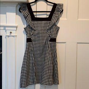 Gingham print BCBG mini dress